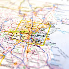 Map Of Kissimmee Close Up Map Of Boston Massachusettes Stock Photo Picture And