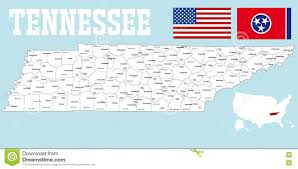 Tennessee State Map by Tennessee County Map Stock Vector Image 78880440
