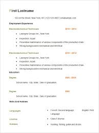 Resume Examples Free by Basic Resume Examples For Jobs Simple Free Resume Template Resume
