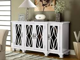 modern accent buffet credenza sideboard 4 glass door carved wood