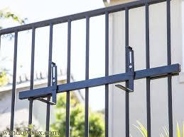 Balcony Planter Box by Adjustable Railing Planter Box Bracket Pair
