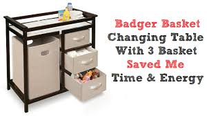 Basket Changing Table Badger Basket Changing Table Saved Me Time And Energy