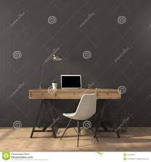 the stylish interior of home office stock photo image 44253683