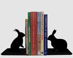 rabbit bookends rabbit bookends etsy