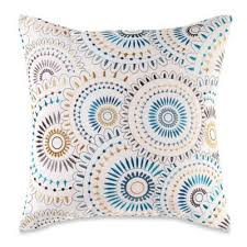 bed bath and beyond pillow inserts myop pinwheel square throw pillow cover in indigo blue indigo blue