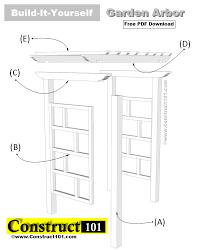 garden arbor plans freestanding garden arbor plans free pdf construct101