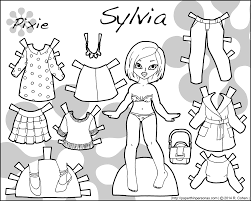 sylvia an asian printable paper doll with contemporary clothing