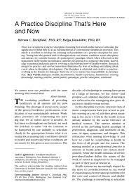 a practice discipline nursing public health