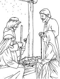 birth jesus christmas coloring pages kids baby coloring