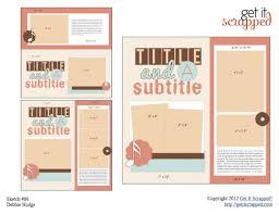 scrapbook page sketch and template bundle 86