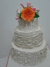 how to make a ruffle wedding cake youtube