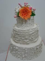 how to make a ruffle wedding cake youtube