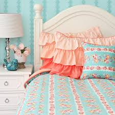 coral home decor cool blue and coral bedding 80 for your home decorating ideas with