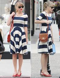 what shoes to wear with a black and white striped dress style