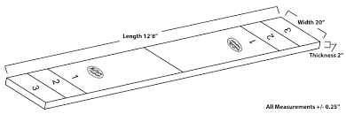 How Long Is A Shuffleboard Table by 14 Foot Contempo Shuffleboard Table Mcclure Tables