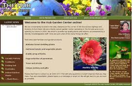 family garden center web design portfolio page