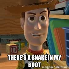 Batman And Robin Meme Creator - there s a snake in my boot toy story woody meme generator