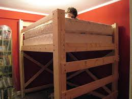 Wood Loft Bed Designs by Bunk Loft Bed Plans 3471