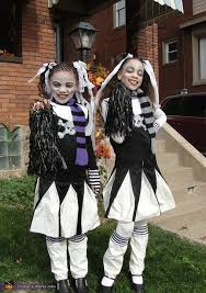 Girls Cheerleader Halloween Costume Goth Cheerleaders Halloween Costumes