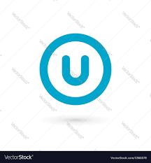 letter u logo icon design template elements vector image