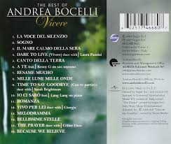 Blind Italian Singer Time To Say Goodbye The Best Of Andrea Bocelli Vivere Amazon Co Uk Music