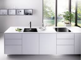 Blanco Kitchen Faucets Canada Silgranit Elegantly Framed In Stainless Steel Blanco