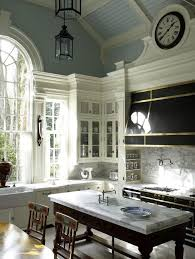 Crown Moulding On Vaulted Ceiling by Floating Shelves With Crown Molding Kitchen Traditional With