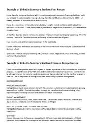 Functional Summary Resume Examples by Linkedin Summary Resume Example Http Resumesdesign Com