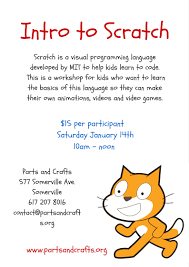 scratch for parents and educators 1 u2013 parts and crafts