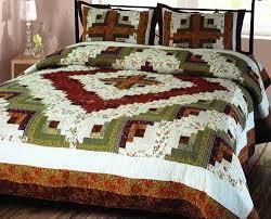 decor 101825 q log cabin quilt size handmade cotton