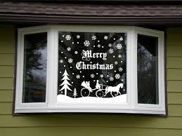 christmas snowy snow scene vinyl decal window kit