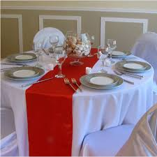 red and white table runner sale 50pcs lot 30 275cm red multi color satin table runner for