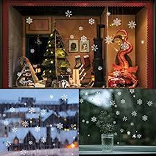 Amazon Uk Christmas Window Decorations by Snowflakes Christmas Window Stickers By Purlees Reusable Static