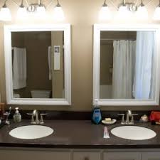 Large Framed Bathroom Mirror Bed Bath Large Framed Mirrors With Bathroom Mirror Frames And