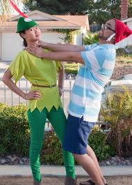 Peter Pan And Wendy Halloween Costumes 13 disney couples u0027 costumes for halloween disney couple costumes