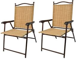 Patio Chairs At Walmart by Amazon Com Greendale Home Fashion Outdoor Sling Back Chairs Set