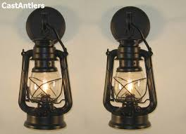 Antler Wall Sconce Rustic Sconces Small Black Lantern Wall Sconce Price Is For 2