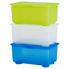 glis box with lid white light green blue ikea