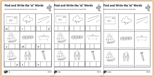 find and write the ai words differentiated activity sheet pack