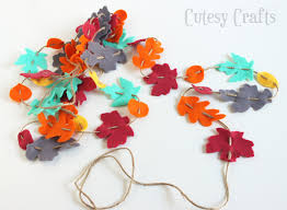 felt fall leaf garland cutesy crafts