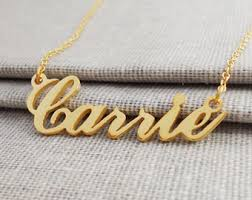custom gold necklace custom gold necklace etsy