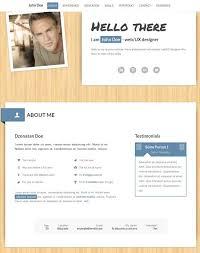 Resume Template One Page 50 Best Html Resume Cv Vcard Templates 2017 Freshdesignweb