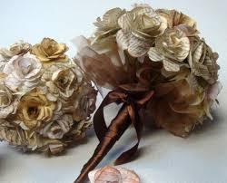 wedding flowers etc custom order paper flower wedding bouquet rehearsal bouquet