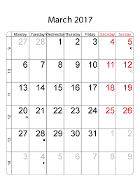 2017 march calendar with holidays calendar and images