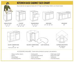 what size sink for 33 base cabinet kitchen base cabinet size chart builders surplus