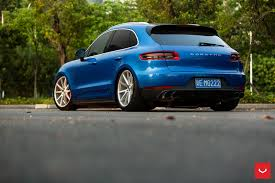 Porsche Macan Blue - vossen wheels porsche macan vossen flow formed series vfs 1
