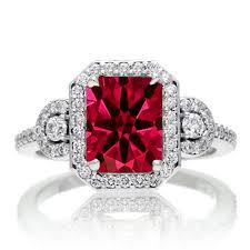 diamond stone rings images 1 5 carat emerald cut three stone ruby halo diamond ring on 10k jpg