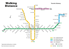 Montreal Metro Map Someone Made A Map Of Walking Distances Between Subway Stations In