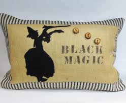 halloween pillow decorative kidney pillow cushion cover with black magic witch