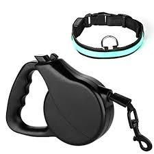 Comfortable Dog Collar Free Led Dog Collar Jellas 16 Feet Dog Retractable Leash With